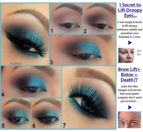 eyeliner tutorial for droopy eyes 17 best images about makeup for droopy eyelids on