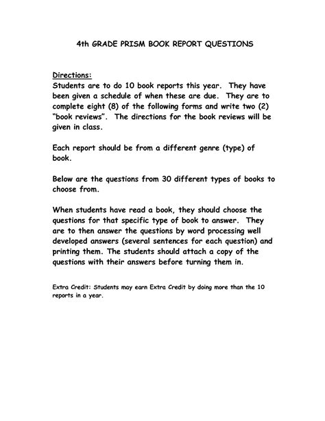 how to write a book report for 4th grade how to write a book report for 4th graders