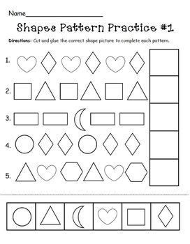 patterns with shapes activities this pattern practice page is a part of my shapes learning