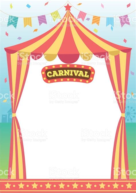 carnival circus template stock vector art 673342742 istock