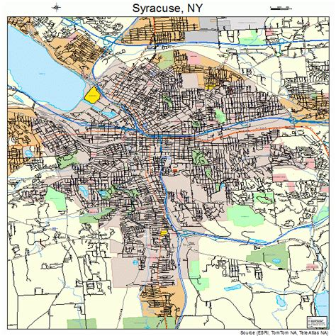 syracuse map syracuse new york map 3673000