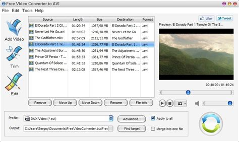 avi format converter software free video converter to avi v1 0 freeware download