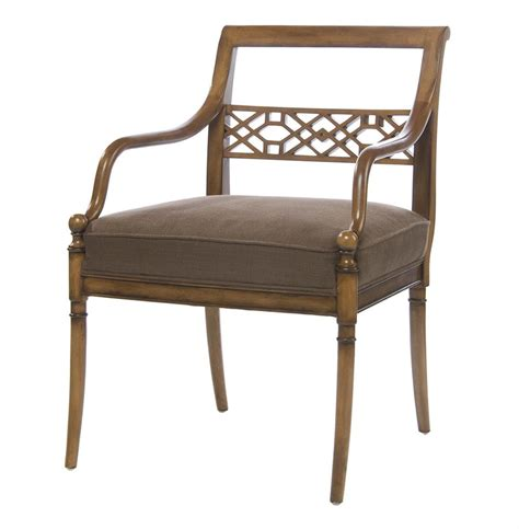 hollywood regency chair hollywood regency golden sable fretwork occasional arm chair kathy kuo home