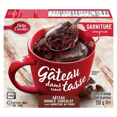 betty crocker mug cake double chocolate cake  fudge topping walmart canada