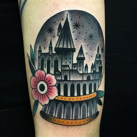 hogwarts castle tattoo 145 most magical harry potter tattoos you ll want to see