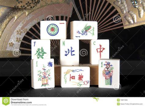 mahjong tiles stock image image of asian ancient mah jong tiles with fans stock image image of eastern