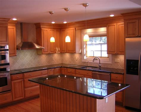 splendid granite top kitchen island with full bullnose
