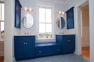 blue bathroom cabinets bathed in color when to use blue in the bathroom