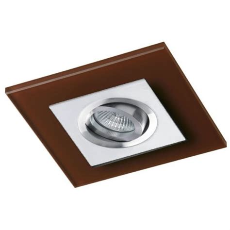 Gb 202 Marron class white recessed light brown glass cristalrecord