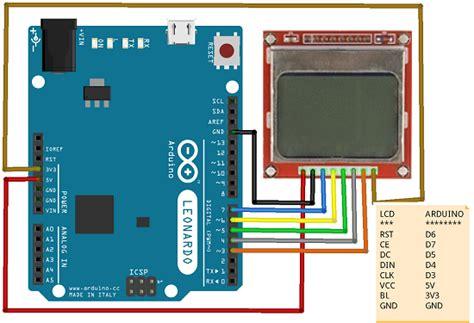 arduino tutorial nokia 5110 arduino gr nokia 5110 lcd