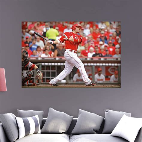 cincinnati reds home decor joey votto mural wall decal shop fathead 174 for cincinnati
