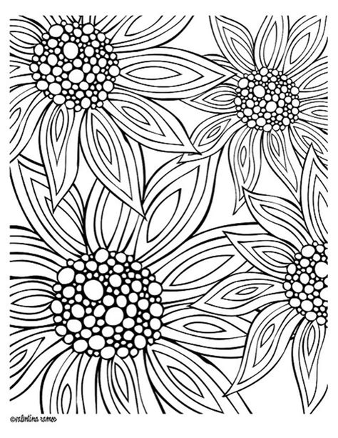 12 Free Printable Adult Coloring Pages For Summer Flower Design Coloring Pages