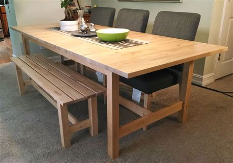 ikea kitchen table bench if space is tight around your dining table a bench might