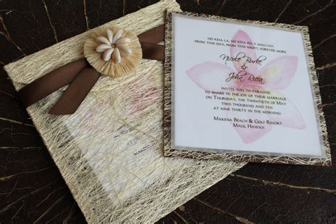 pretty hawaiian wedding invitation templates pictures