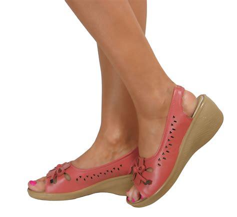 peep toe sandals low heel low wedge heel peep toe wide fit comfy casual
