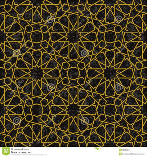 gold arabic pattern gold line pattern with black background in arabic style