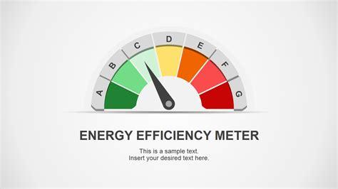 energy powerpoint template energy efficiency meter shapes for powerpoint slidemodel