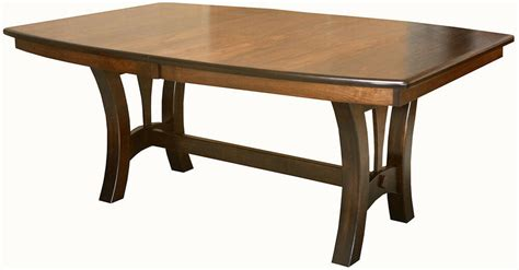 amish casual trestle dining table boat top oval rectangle solid wood furniture ebay
