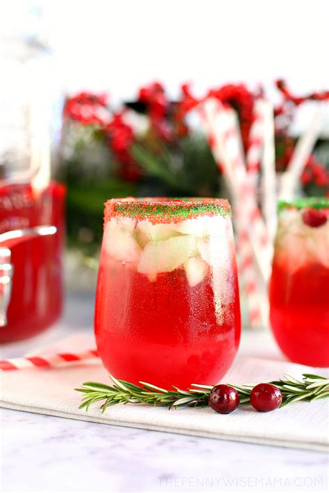 sparkling cranberry lime holiday punch the pennywisemama