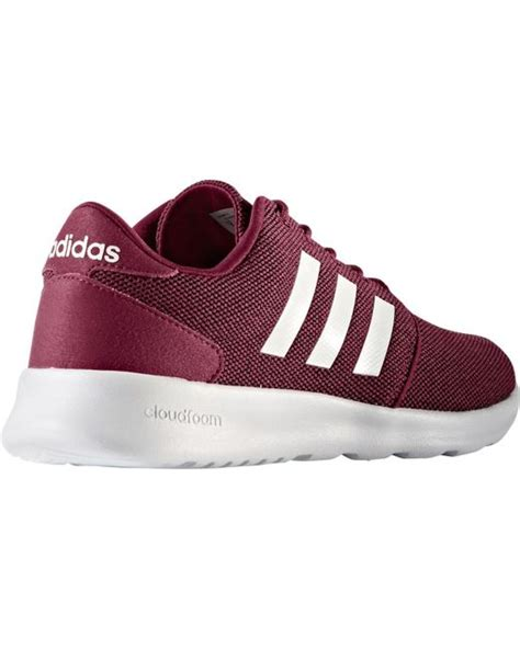 adidas qt racer adidas neo cloudfoam qt racer casual shoes in red for men