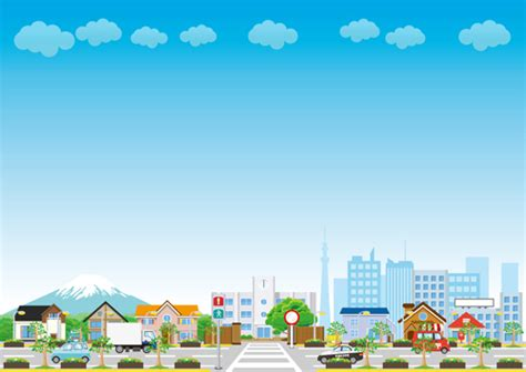 City Landscape Vector Modern City Landscape Vector Template 03 Vector Scenery