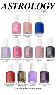 Astrology Color Astrology Nail Lacquer Collection By Essie Zodiac