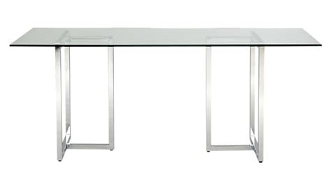 silverado 72 quot chrome dining table cb2