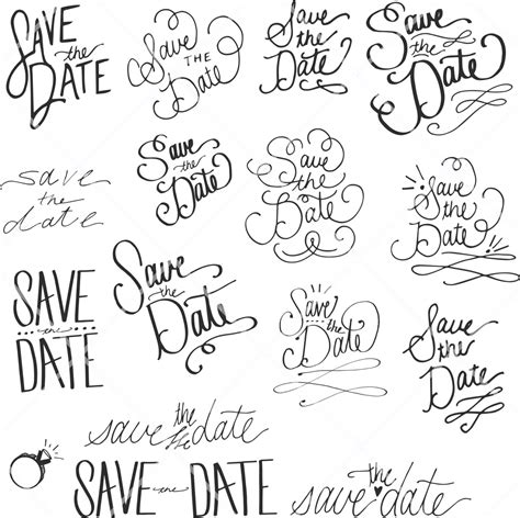 save the date card hand drawn wedding art save the date lettering
