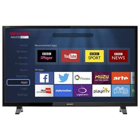 Tv Led Sharp 43 Inch Buy Sharp Lc 43cff6001k Smart Hd 43 Inch Led Tv With Freeview Hd From Our Led Tvs Range Tesco
