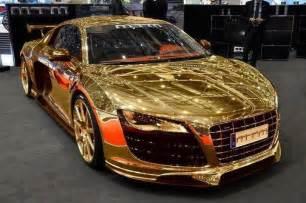 Audi R8 Gold Gold Audi R8 Cars