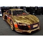 Gold Audi R8  Cars Pinterest