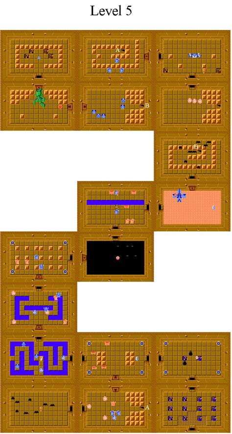 legend of zelda dungeon maps second quest legend of zelda second quest dungeon maps
