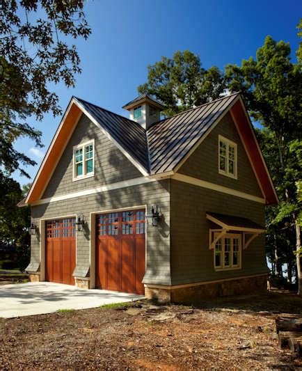 Lake House Cabana Traditional Garage And Shed Traditional House Plans With Detached Garage