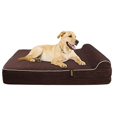 extra large orthopedic dog bed extra large 7 quot orthopedic memory foam dog bed with 3 quot pillow includes waterproof