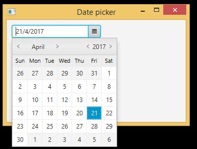 calendar java layout java program codes javafx calendar exle