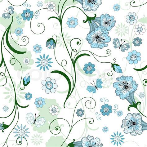 Blumenmuster Blau Wei 223 Nahtlose Blumenmuster Mit Blauen Blumen Und