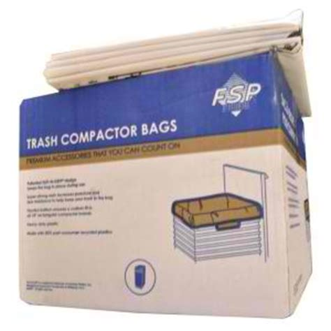 w10165294rb whirlpool kenmore 15 quot trash compactor bags 60 pack
