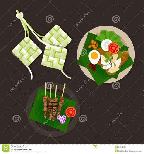 Ramadan Lebaran 6 lebaran ketupat idul fitri ied food sate opor ayam stock