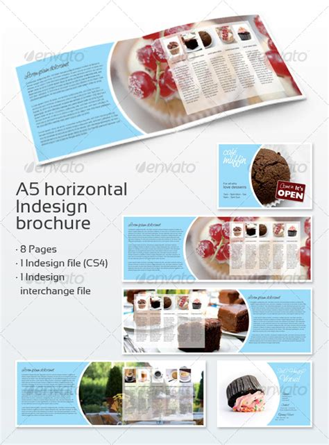 a5 brochure template cafe brochure a5 graphicriver