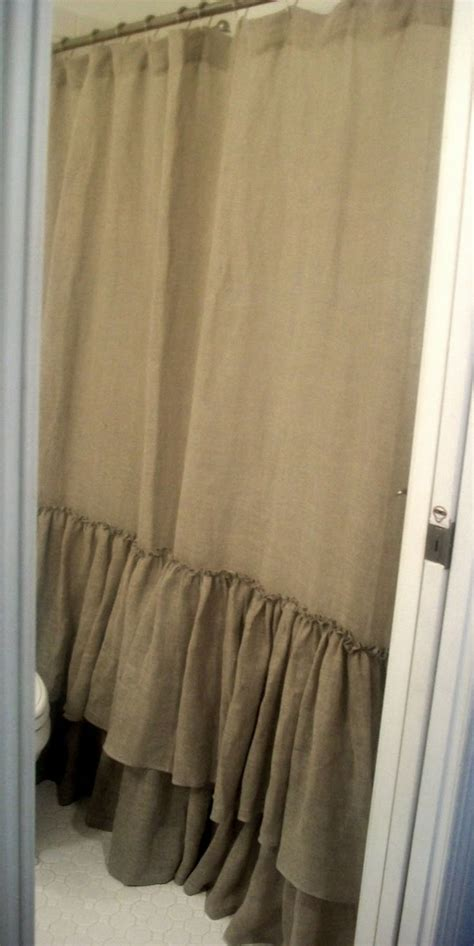 burlap ruffled curtains best 25 burlap shower curtains ideas on pinterest
