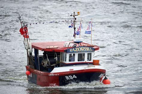 river thames boat fishing flotilla battle in london over brexit