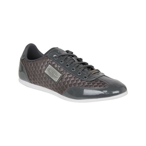 Firetrap Maroon firetrap mens dr kingdom quilted design lace up trainers