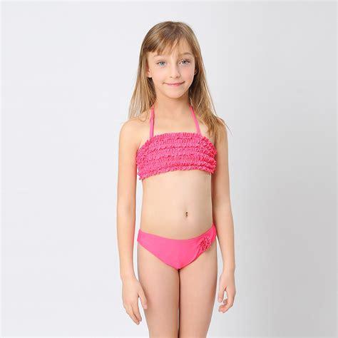 kids swimwear girls aliexpress hiheart 2015 fashion girls bikinis ruffle layered top cute