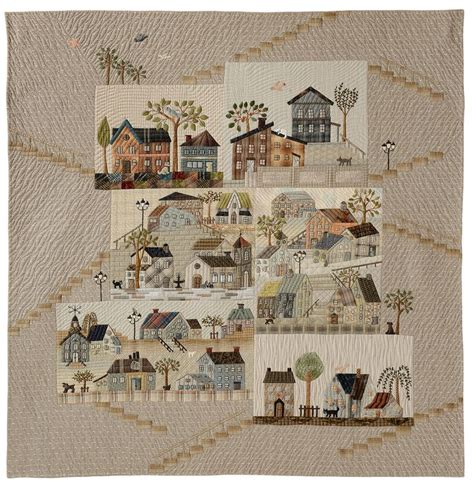 Patchwork Europe - amazing japanese taupe quilt mystery quilt of yoko saito