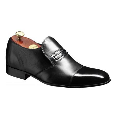 barker gretton black leather slip on shoe barker from