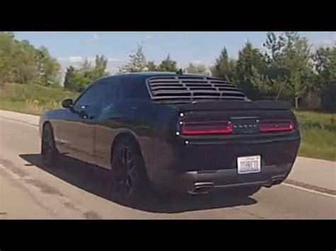 nice black dodge challenger on highway 24. youtube