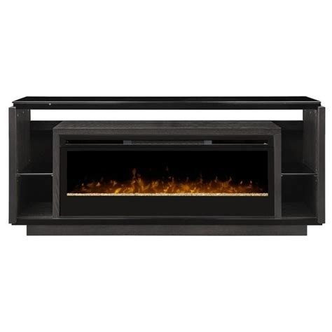 dimplex david glass ember bed electric fireplace tv stand