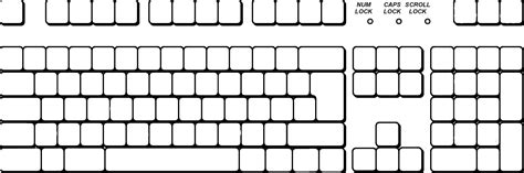 blank keyboard template printable lesupercoin printables