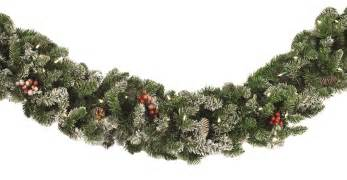 decorative garland hawthorne prelit christmas garland