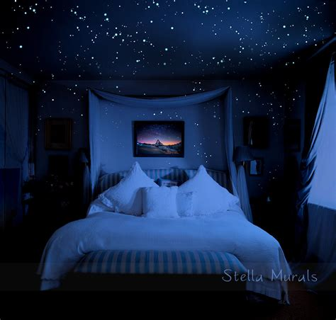 stars bedroom ceiling glow in the dark star stickers 200 1000 stickers diy 3d